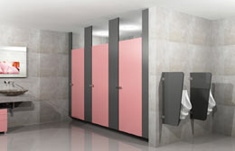 Ceiling-Hung-Washroom Toilet Partitions