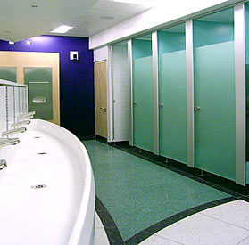 glass door toilet cubicle partitions