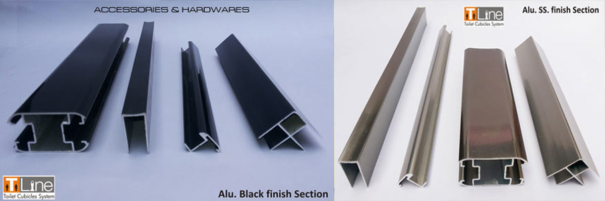 aluminium black finish sect