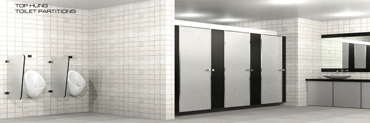 top hung toilet partition